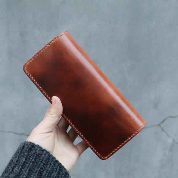 天神ワークスのエイジングした革財布