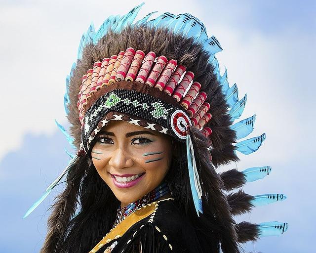 インディアンの女の子