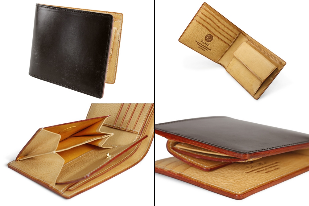 ガンゾのシンブライドル メンズ二つ折り財布