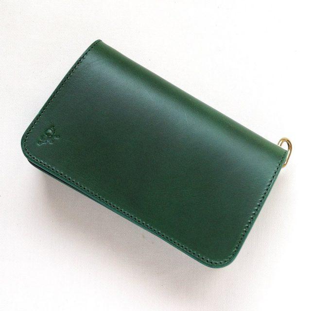 革蛸の緑色の財布グリーン