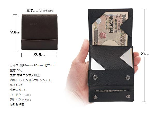 薄い財布 サイズ