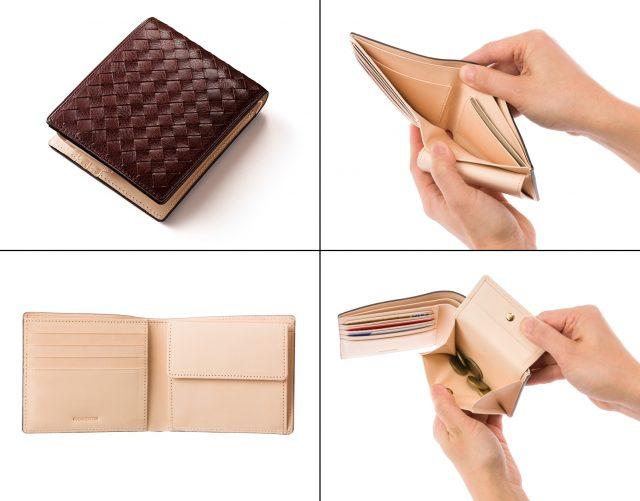 ココマイスターのマットーネ、オリヴェートパース二つ折り財布