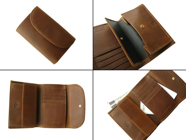 セトラーのメンズ三つ折財布