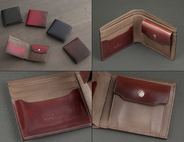 YUHAKUのコードバンを使った二つ折り財布