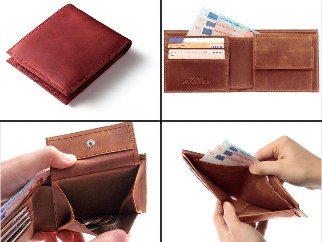 ココマイスターのナポレオンカーフ、ボナパルトパース二つ折り財布