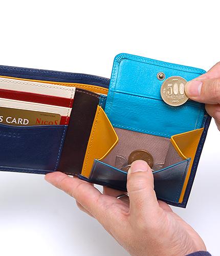 JOGGO メンズ二つ折り財布