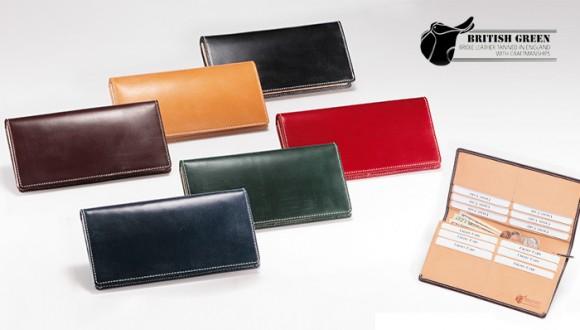 ブリティッシュグリーンのビジネス用メンズ長財布