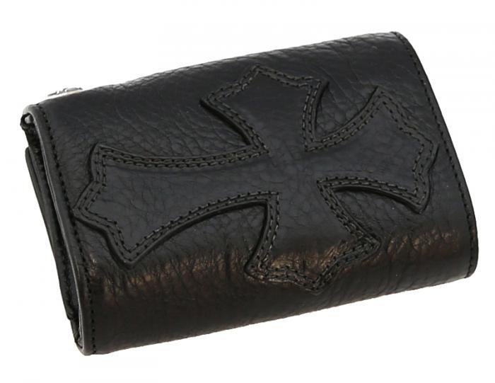 クロムハーツ ヘビーレザー三つ折り財布