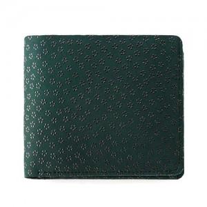 ジザインバイインデンの印伝革で出来たメンズ二つ折り財布