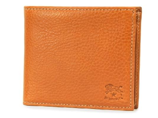 イルビゾンテ ユニセックスな本革の二つ折り財布