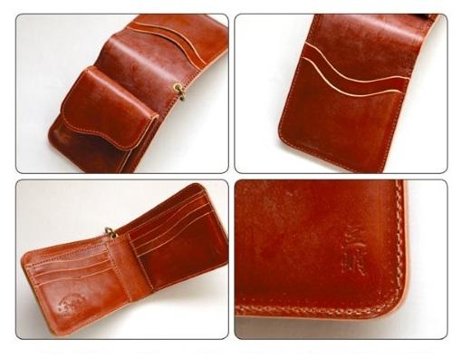 革蛸 メンズ二つ折り財布