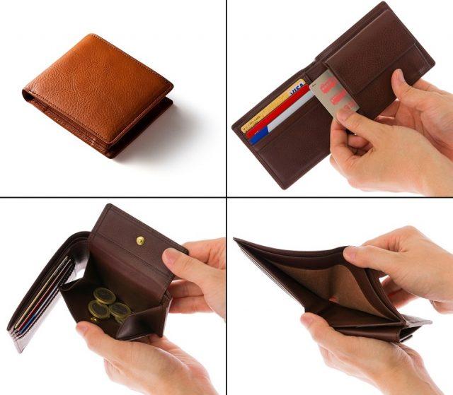 ココマイスターのマルティーニ、アーバンパース二つ折り財布