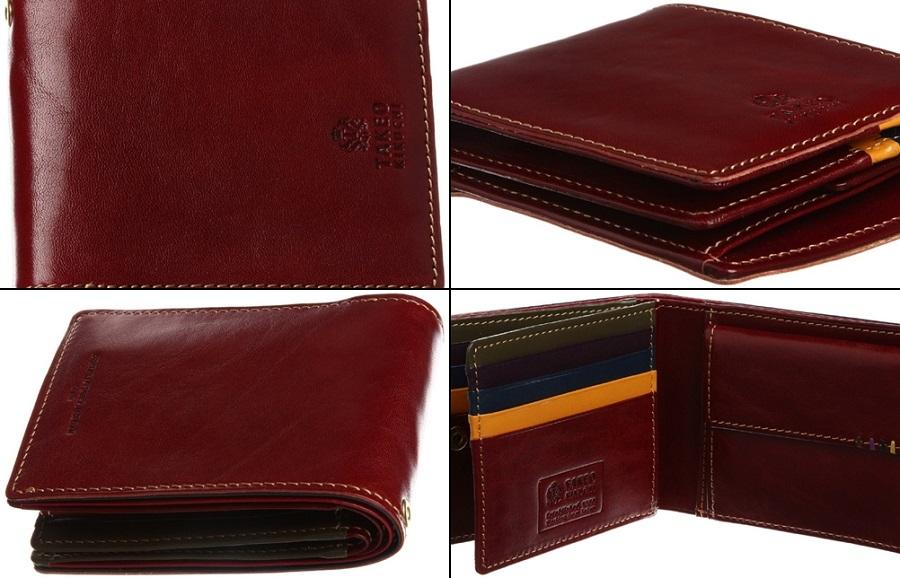タケオキクチ メンズ二つ折り財布