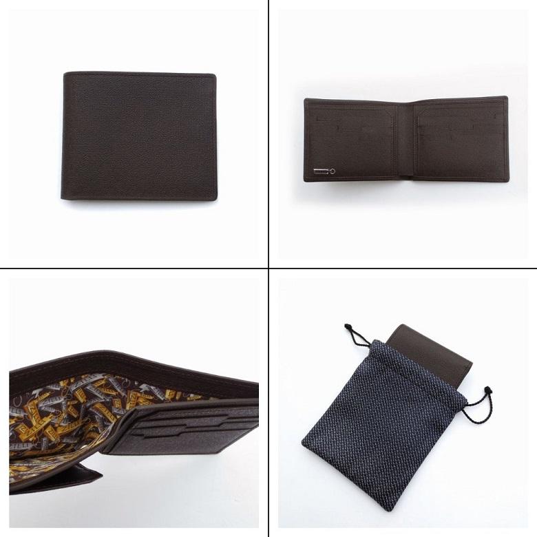 ジリー カーフレザー二つ折り財布