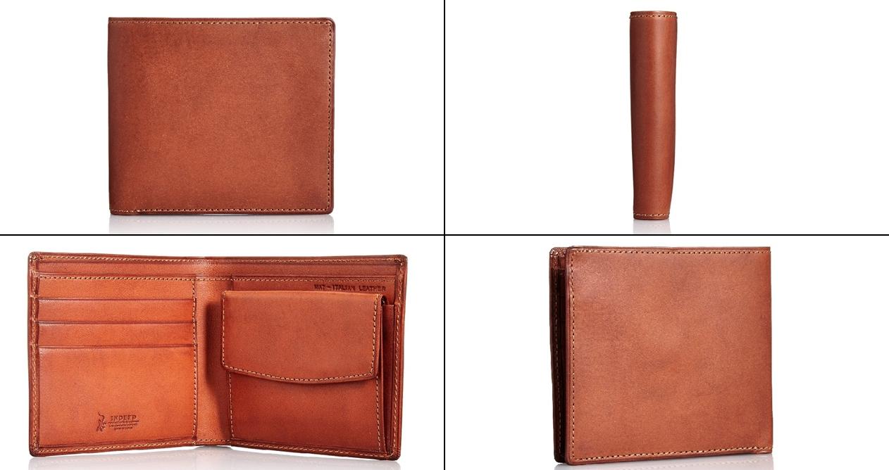 インディード ボルサのメンズ二つ折り財布