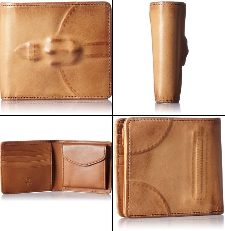 ミハラヤスヒロの炙り出しレザー二つ折り財布