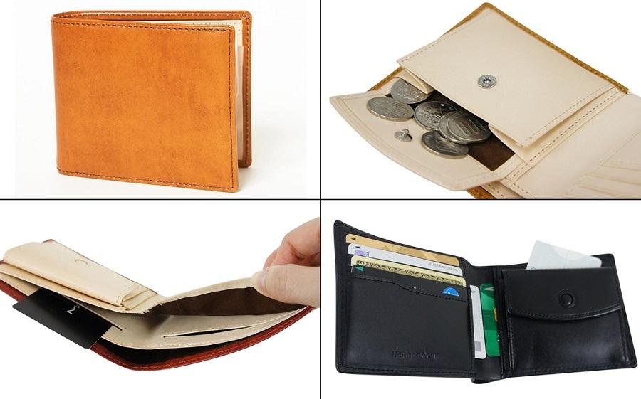 エルゴポックのメンズ二つ折り財布