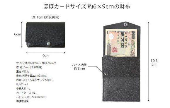 小さい財布のサイズ