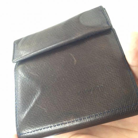 薄い財布の経年変化