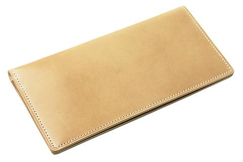 キプリス ナチュラルコードバンのメンズ長財布