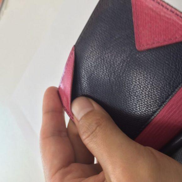 薄い財布の札入れの止める部分