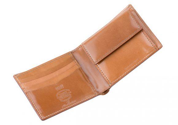 キプリスのコードバン財布の内装