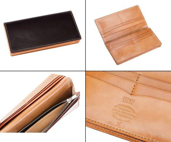 キプリスコレクションのホーウィンコードバン&ナチュラルコードバン長財布