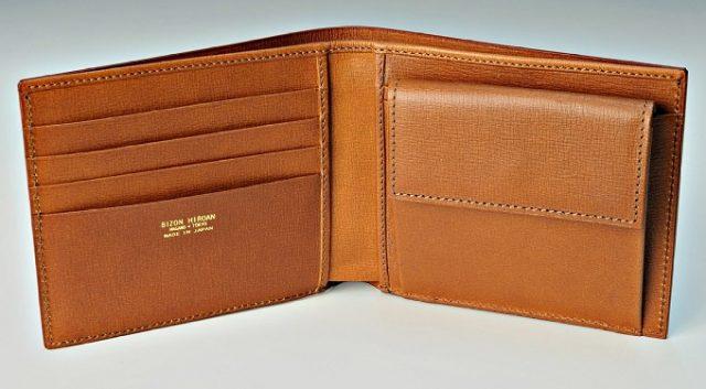 HIROANのビジネス向けメンズ二つ折り財布の内装