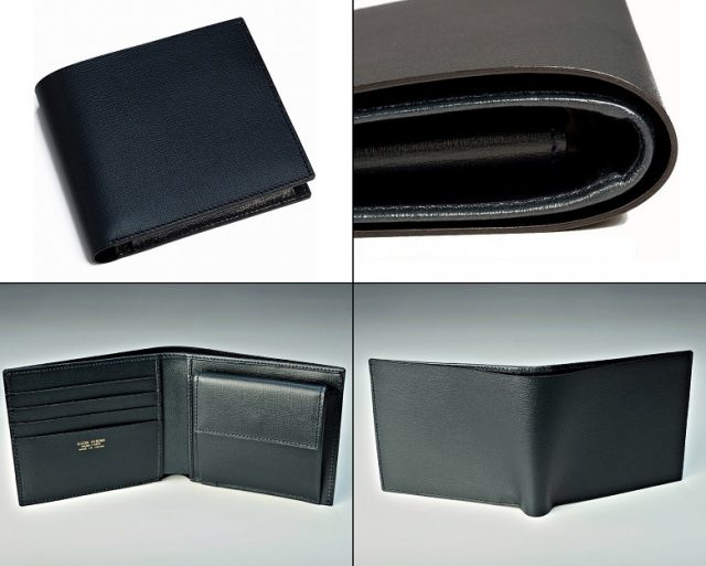 HIROANのビジネス向けメンズ二つ折り財布