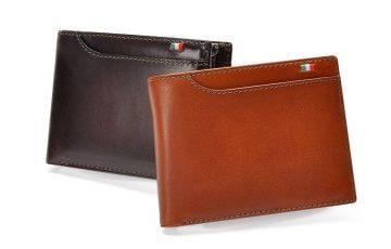 ミラグロのBOX型小銭入れ付き二つ折り財布