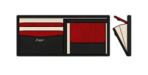 JOGGOの二つ折り財布の作成サンプル画像
