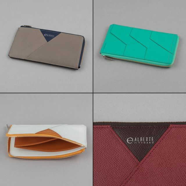 YUHAKUプロデュースの大人カジュアルの定番アルベルテシリーズのラウンドファスナー長財布