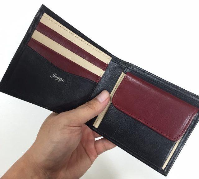JOGGOで頼んだセカンド用のビジネス財布の内装