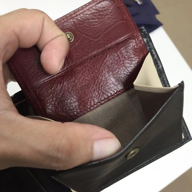 JOGGOの二つ折り財布の小銭入れ部分