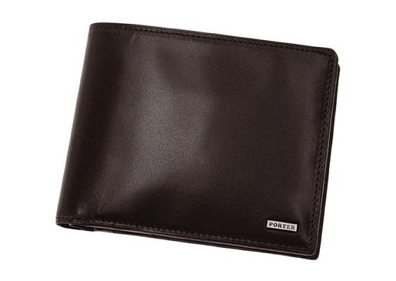 ポーターのシーンシリーズのメンズ二つ折り財布