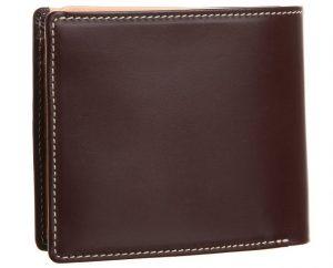 ブリティッシュグリーンのビジネス向け二つ折り財布