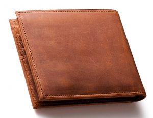 ココマイスターのナポレオンカーフ二つ折り財布