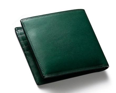 ココマイスターのブルキャラック二つ折り財布
