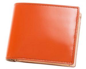 キプリスのベジタブルタンニン鞣し二つ折り財布