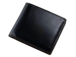 キプリスのベジタブルコードバンを使ったビジネス用二つ折財布