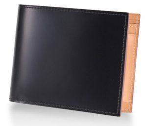 ガンゾのコードバン二つ折り財布