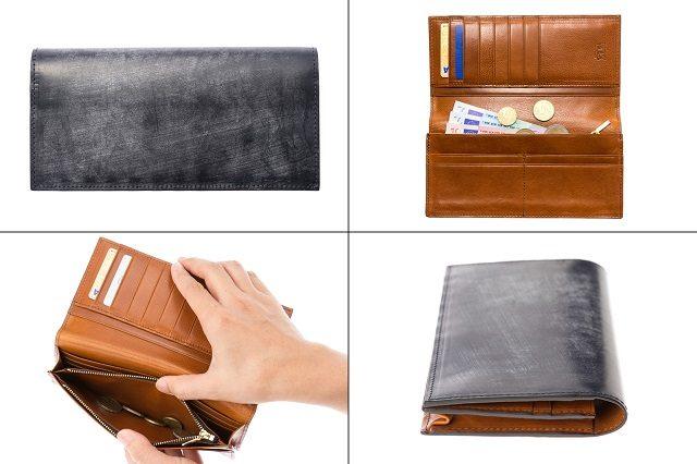 ココマイスターのビジネス向けメンズ財布ロンドンブライドルシリーズのスプレッドイーグル長財布