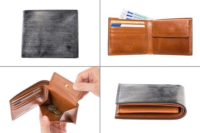 ココマイスターのビジネス向けメンズ財布ロンドンブライドルシリーズのパースファントム二つ折り財布