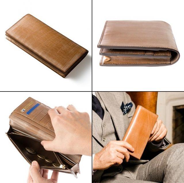 ココマイスターのオークバークを使った高級なメンズ長財布
