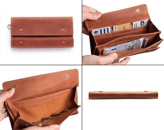 ココマイスターのナポレオンカーフシリーズのアレクサンダーウォレット長財布