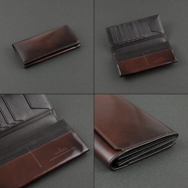 YUHAKUのレーデルオガワ製水染めコードバンを使った長財布