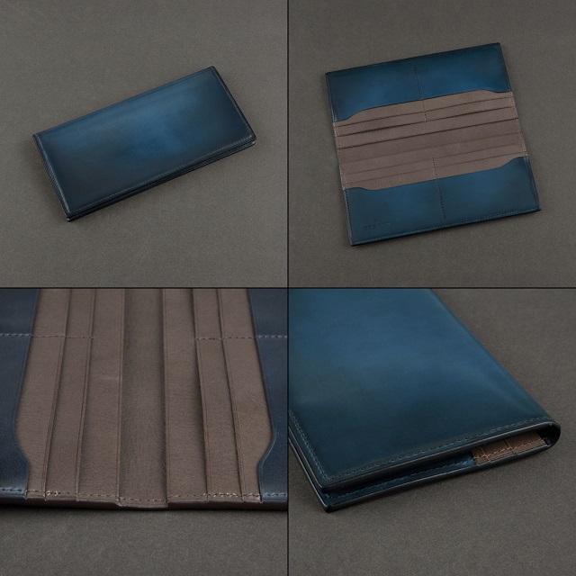 YUHAKUの水染めコードバン長財布