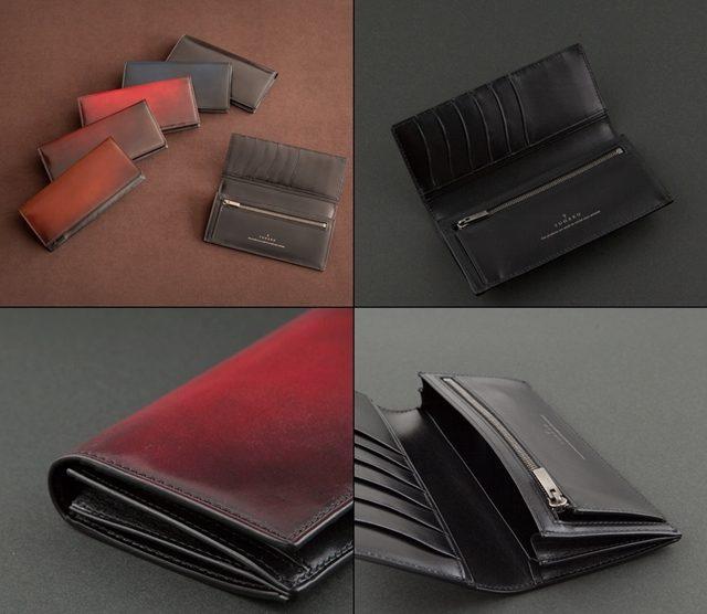 YUHAKUの水染めコードバンとクリスペルカーフを使ったディアマント長財布