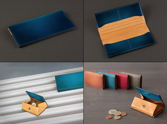 YUHAKUのフォスキーアシリーズの長財布とBOX型小銭入れ
