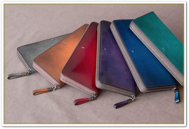 YUHAKUのフォスキーアシリーズのラウンドファスナー長財布
